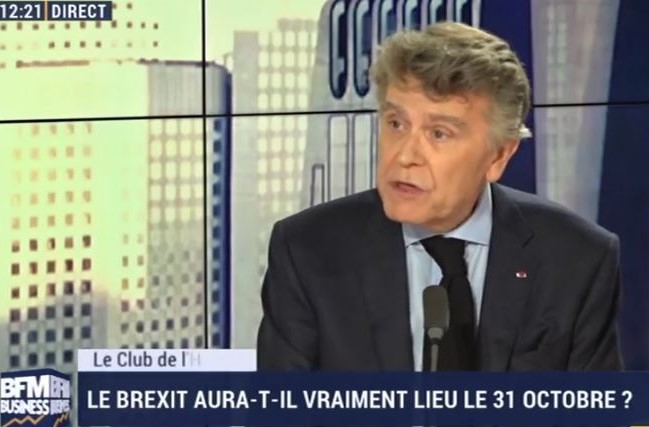 Interview sur BFM Business de Thierry de Montbrial le 08/10/2019