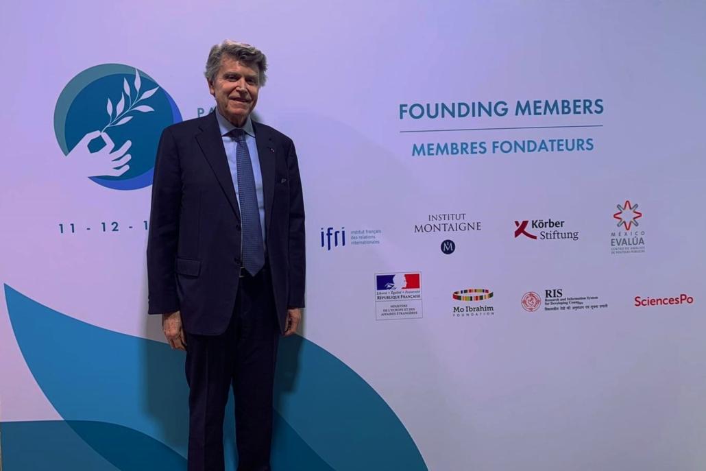 Thierry de Montbrial, Founding member, Paris Peace Forum, novembre 2019