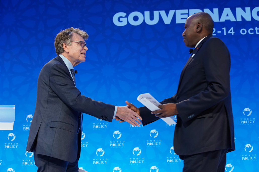 WPC 2019, Marrakech, October 12 Thierry de Montbrial, Amadou Gon Coulibaly