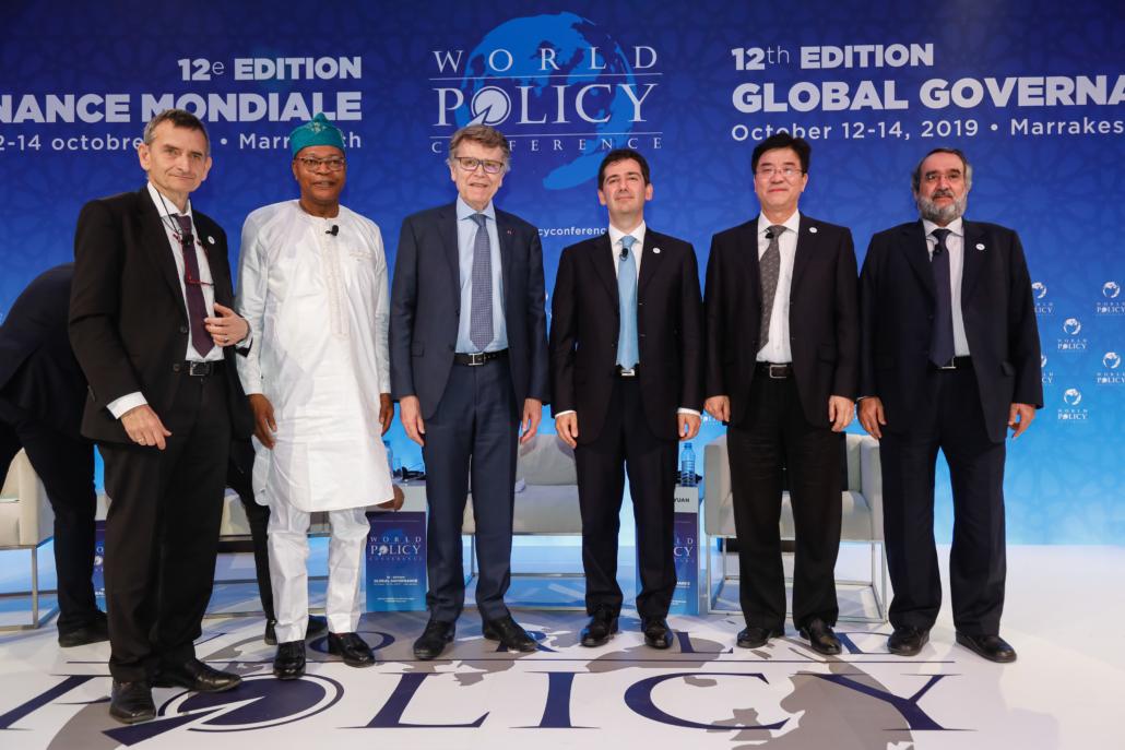 WPC 2019, Marrakech, October 14 Volker Perthes, Mohamed Ibn Chambas, Thierry de Montbrial, Memduh Karakullukçu, Dong Manyuan, Abdulaziz Othman bin Sager