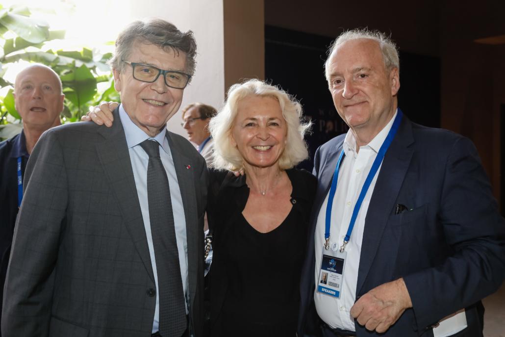 WPC 2019, Marrakech, October 12-14 - Sidelines - Thierry de Montbrial, Marie-Christine de Montbrial ; Hubert Védrine