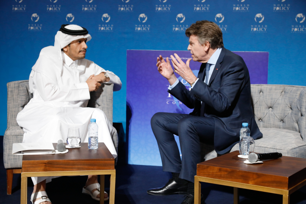 WPC 2019, Marrakech, October 12 His Excellency Sheikh Mohammed bin Abdulrahman bin Jassim Al-Thani,Thierry de Montbrial