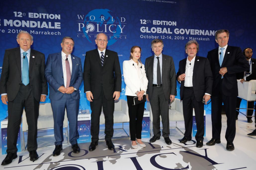 WPC 2019, Marrakech, October 13 Jim Hoagland, François Barrault, Jean-Yves Le Gall, Susan Liautaud, Thierry de Montbrial, Holger Mey, John Sawers