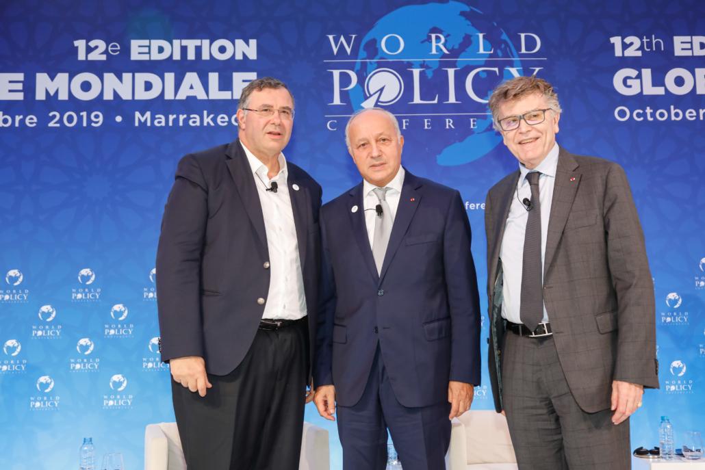 WPC 2019, Marrakech, October 13 Patrick Pouyanné, Laurent Fabius, Thierry de Montbrial