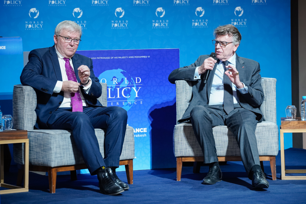 WPC 2019, Marrakech, October 13 Kevin Rudd, Thierry de Montbrial