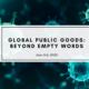 Thierry de MOntbrial - Covid-19 Global public goods: beyond empty words