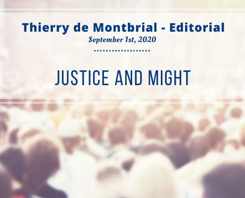 Thierry de Montbrial, editorial of september 2020