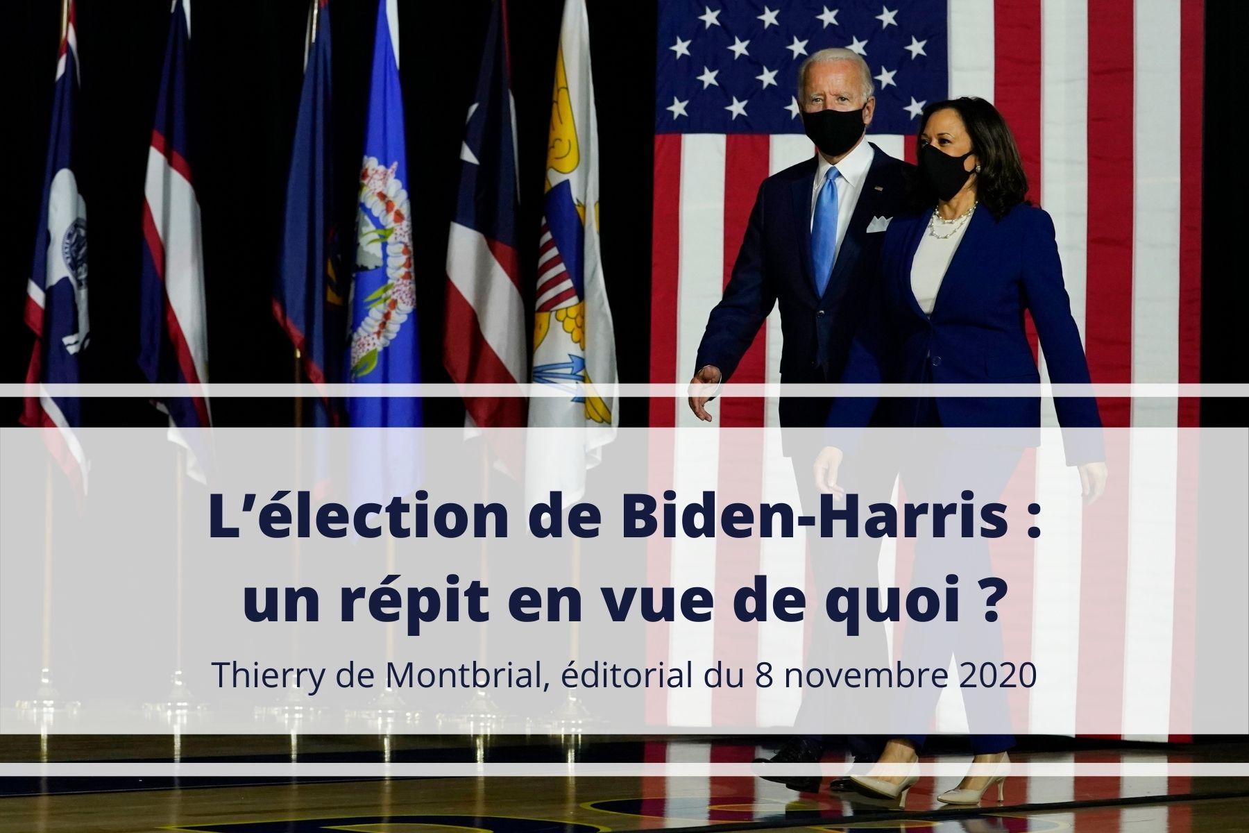 Thierry de Montbrial éditorial novembre 2020 élections américaines
