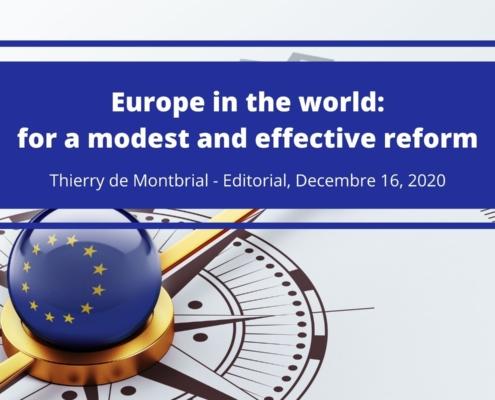 Thierry de Montbrial Editorial December 2020